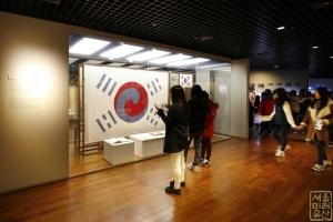 대한민국역사박물관 전시실 태극기