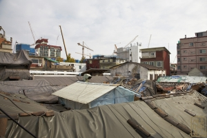 영천시장 시장 지붕