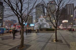 한국은행 앞 광장 분수대 야경1