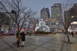 한국은행 앞 광장 분수대 야경2