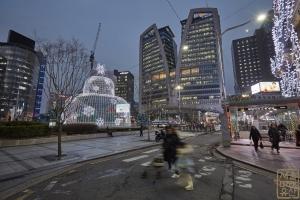 한국은행 앞 광장 분수대 야경3