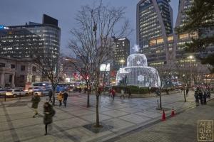 한국은행 앞 광장 분수대 야경4