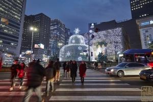 한국은행 앞 광장 분수대 야경5