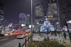 한국은행 앞 광장 분수대 야경7