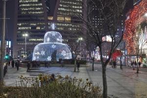 한국은행 앞 광장 분수대 야경8